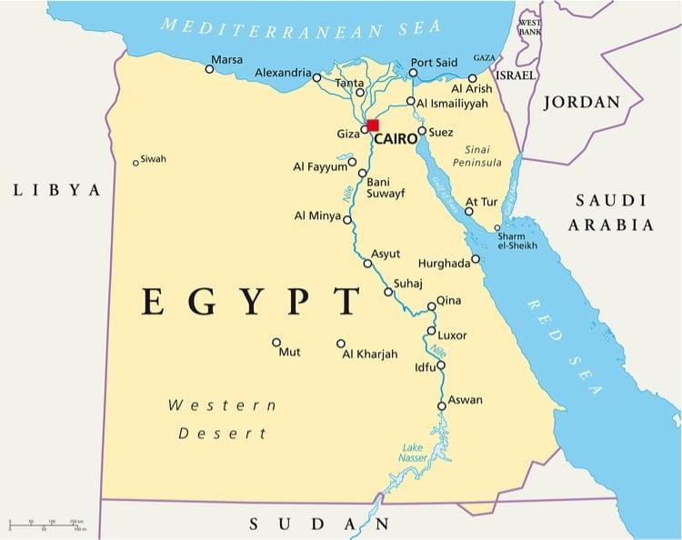 egypten karta