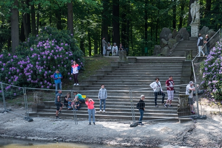 tourists photographing rakotzbrucke