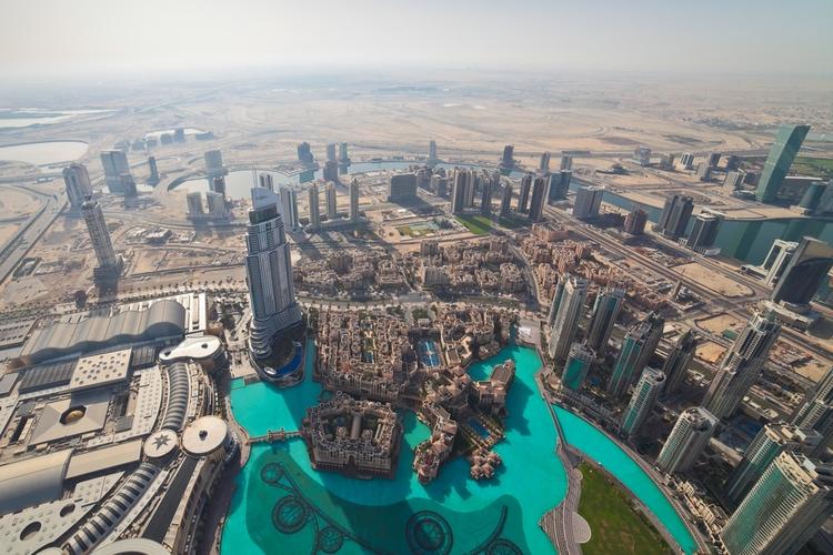 La vista desde Burj Khalifa