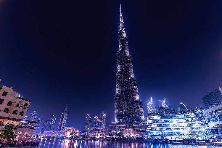 Burj Khalifa en la noche