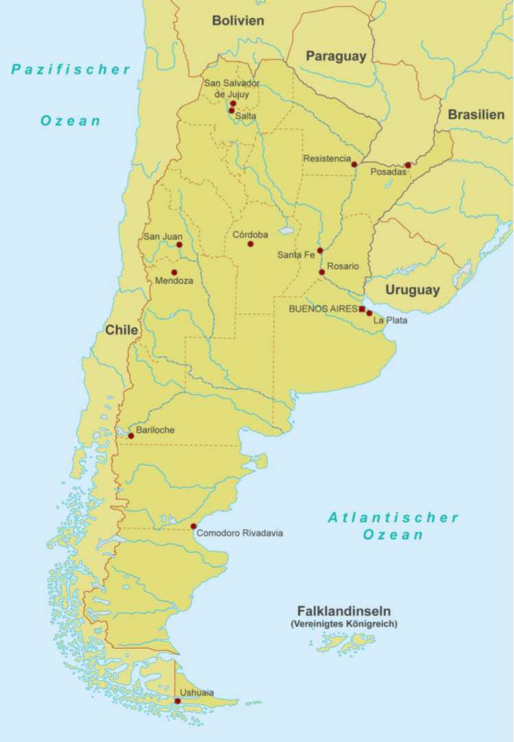 Argentina Karta