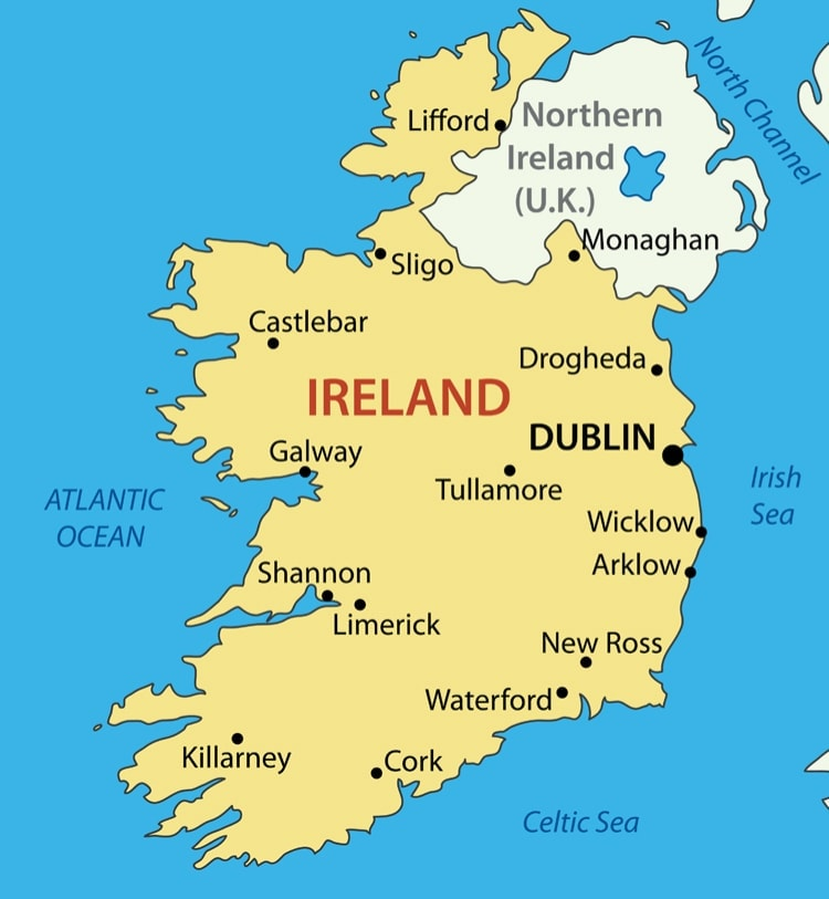 Irland karta