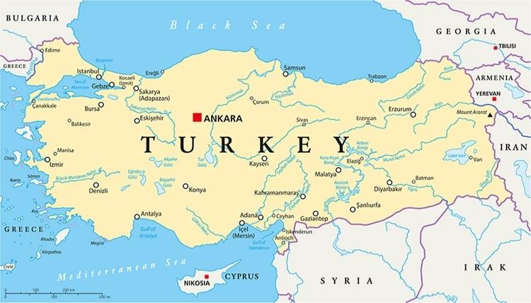 Turkiet Karta