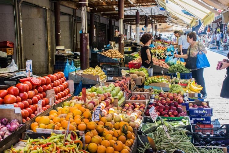 Greek fruit market