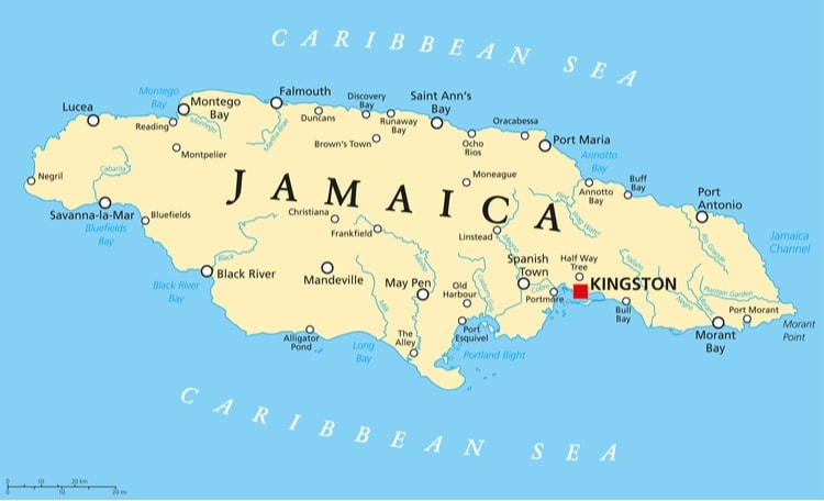 Jamaica Karta
