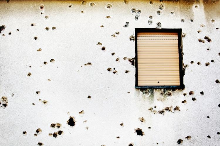 Bullet holes Mostar