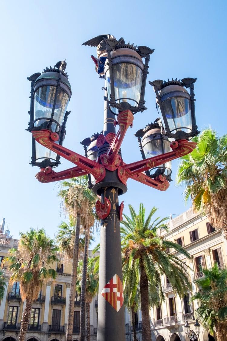 Gaudi Lamp in Barcelona