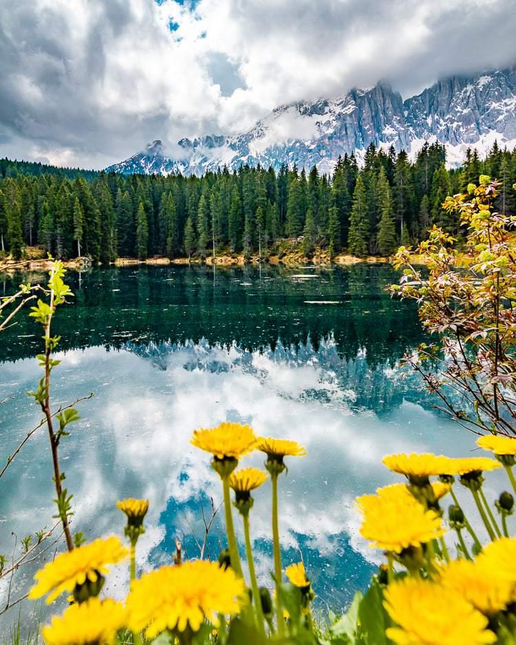Lake Carezza Italy