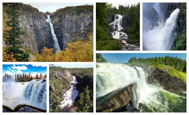 Sveriges största och högsta vattenfall