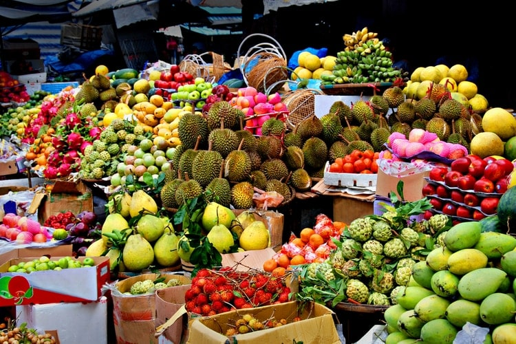 Thai fruit market