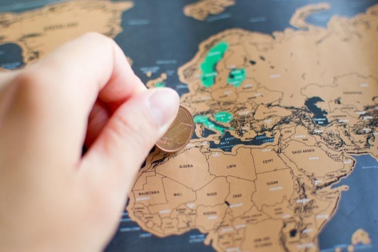 antal besökta länder i världen