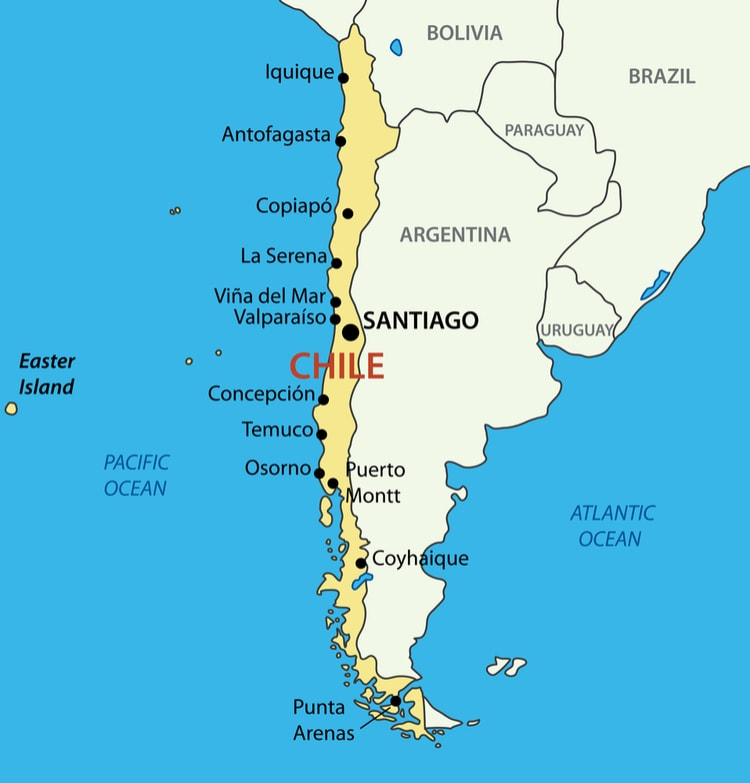 Chile karta