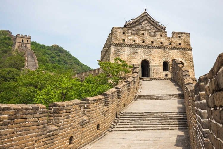Lookout tower great wall of china