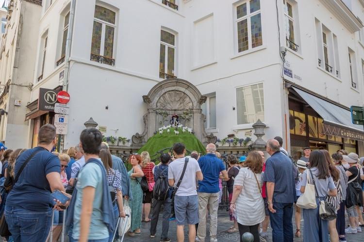 Manneken Pis turister