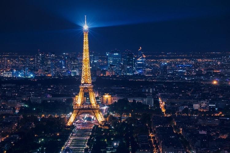 Night view eiffel tower