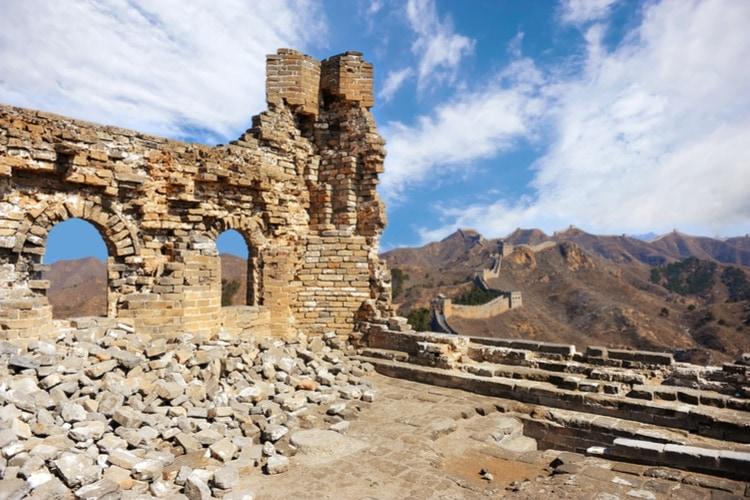 Ruins great wall of china