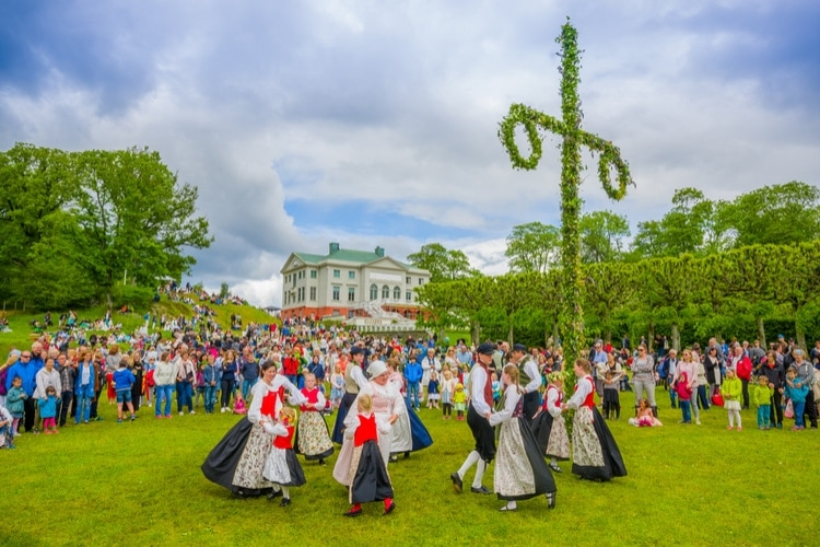 Traditional Midsummer in Sweden