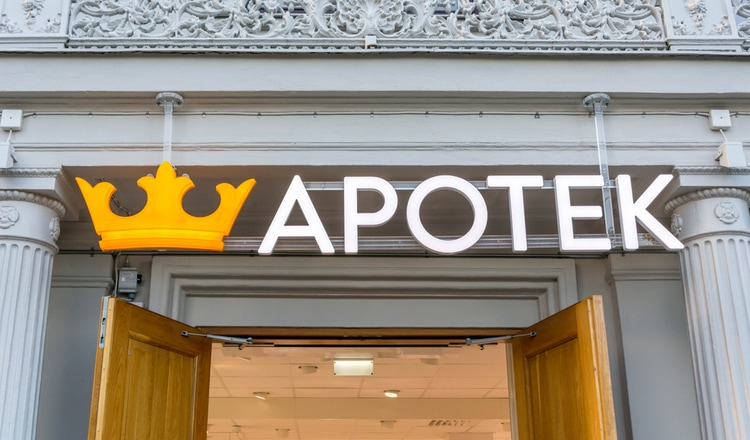 Apotek is the Swedish word for Pharmacy