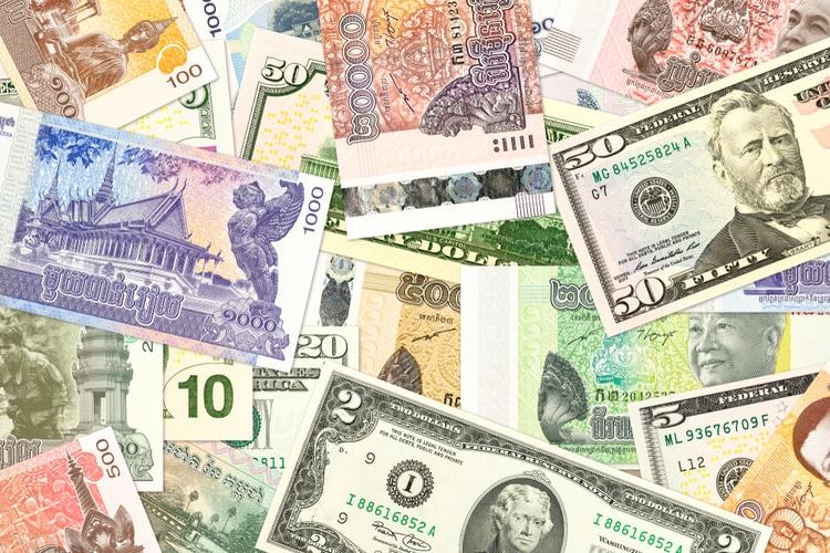 dólares estadounidenses o rieles camboyanos en Camboya