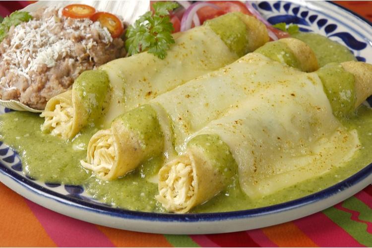 Enchiladas är traditionell mat i Mexiko