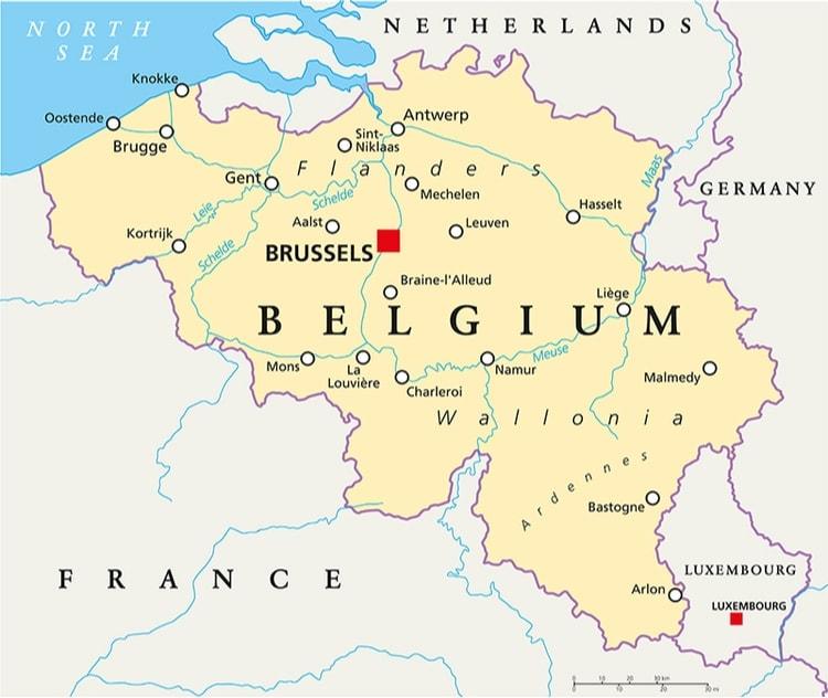 Karta Belgien