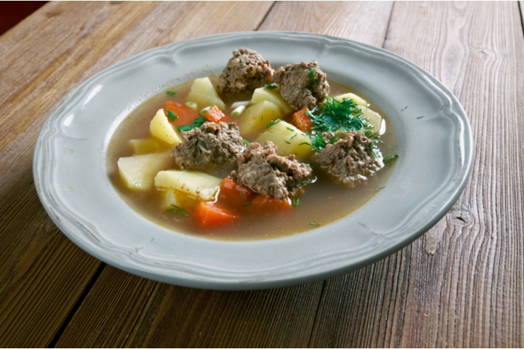 Sodd - traditional soup from norway