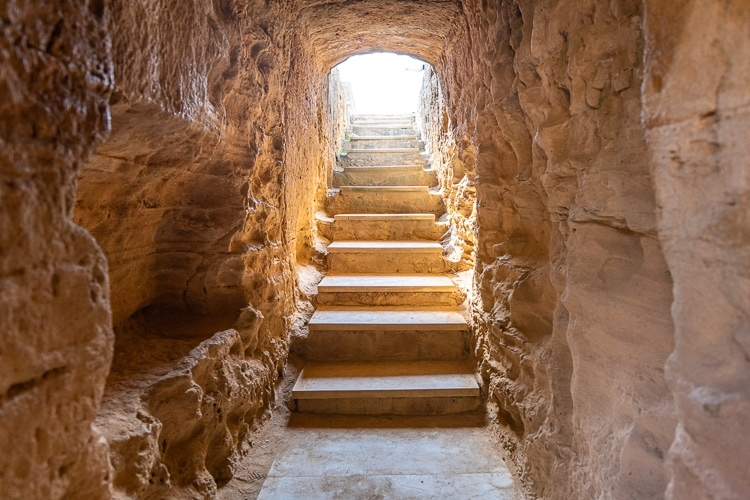Stairs in the tombs of kings