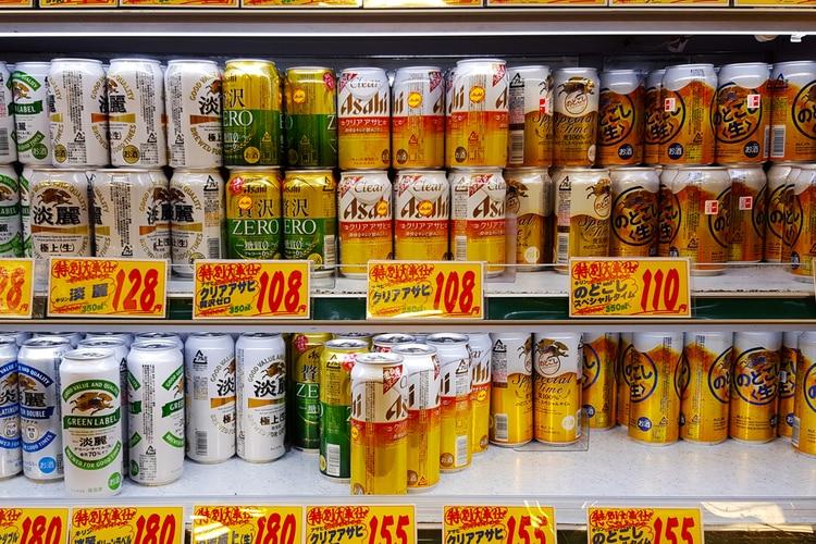 Diferentes tipos de cervezas en Japón