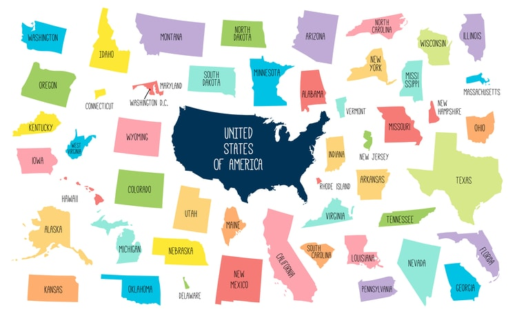 information about the biggest states in the US