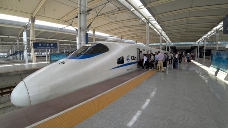 ett av världens snabbaste tåg