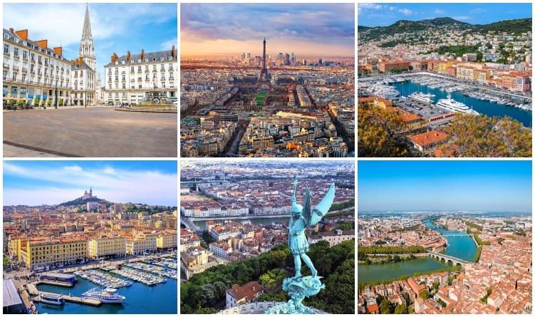 Frankrikes största städer