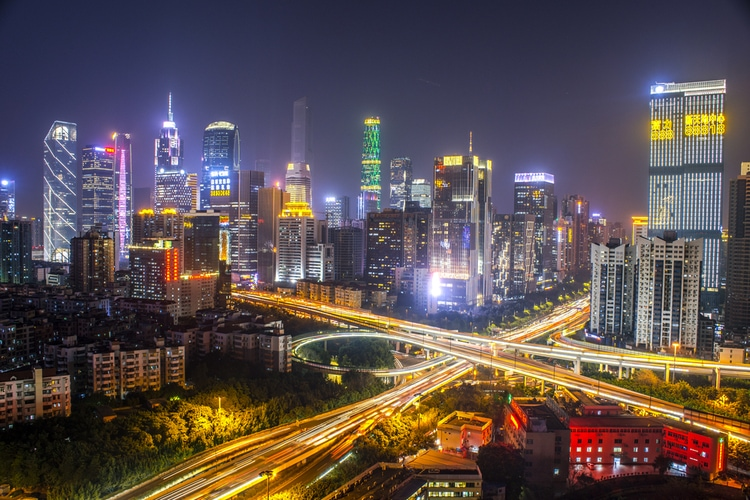 Most populated city in China
