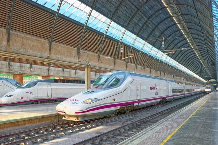 Spanish high-speed train