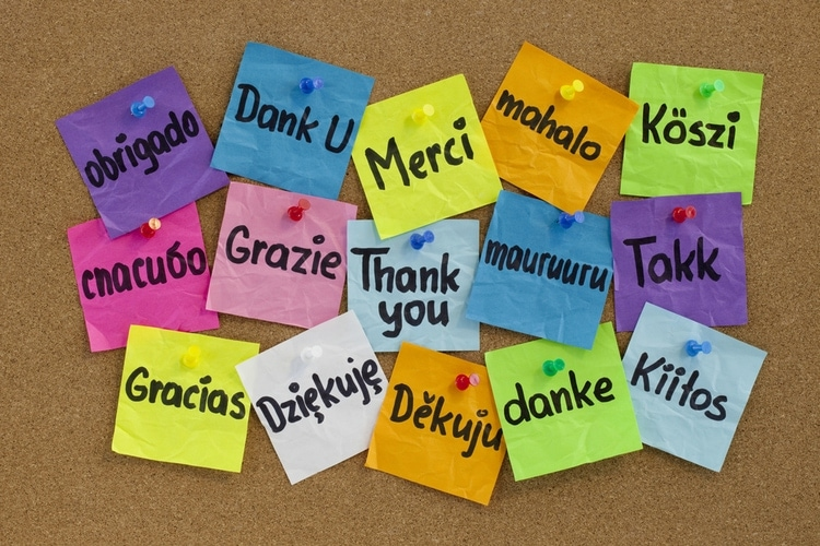 how to say thanks in different languages