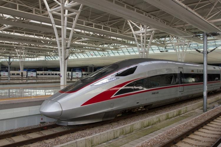 ett av de snabbaste tågen i Kina