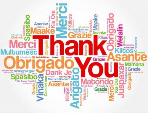Hur man säger tack på olika språk