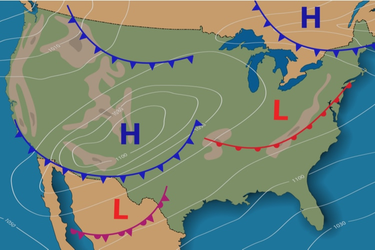 warm front meets a cold front