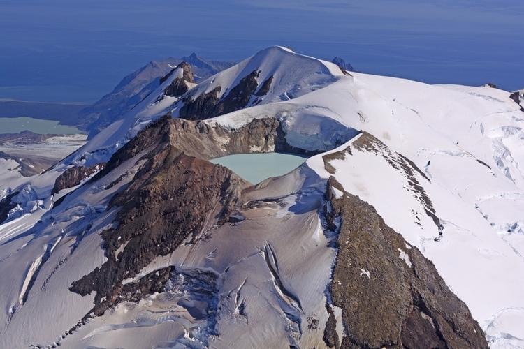 aktiv vulkan i Alaska