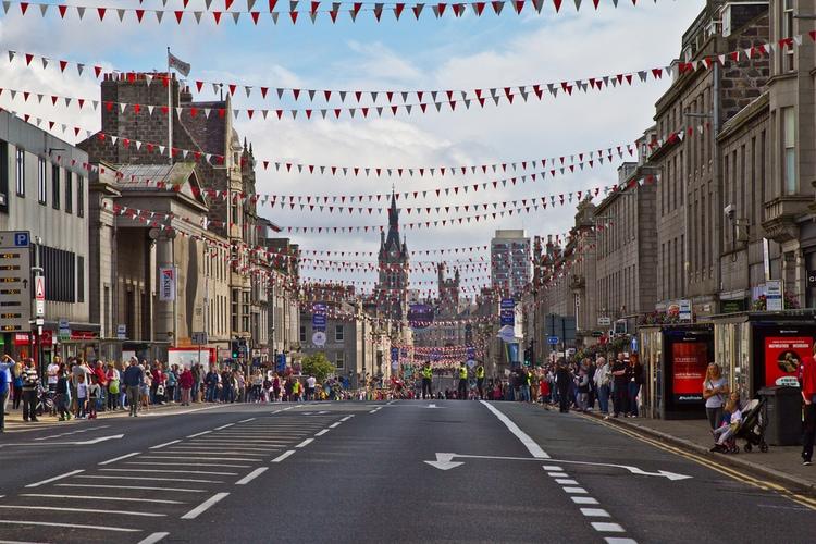 Aberdeen city in Scotland