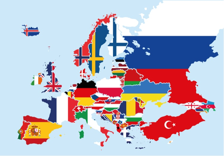 Largest Countries in Europe by size and population (2020)
