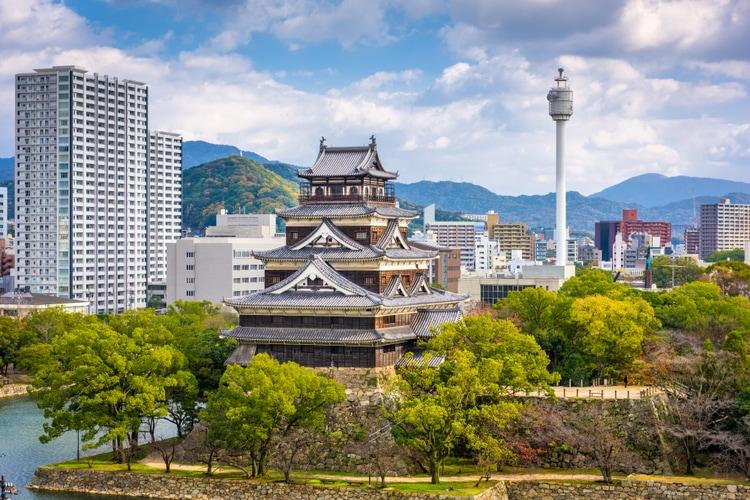 Hiroshima city in Japan