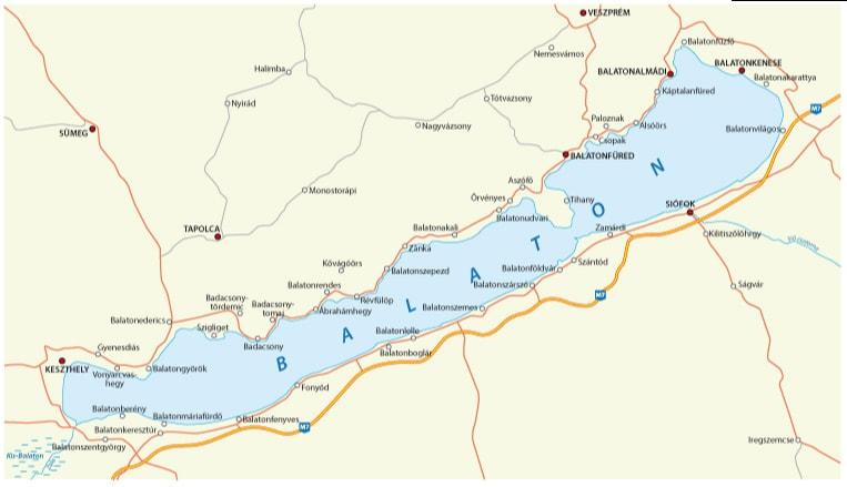 Map of Balaton