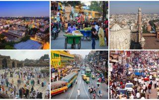 Indiens största städer