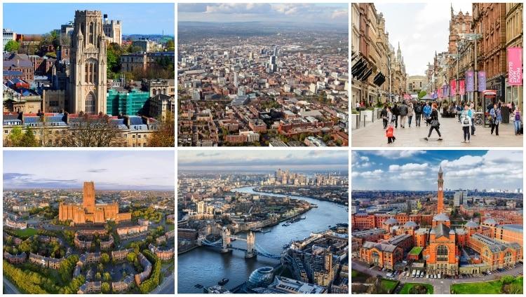 Storbritanniens största städer