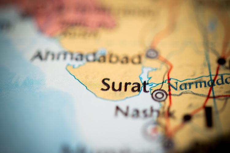 Surat city in India