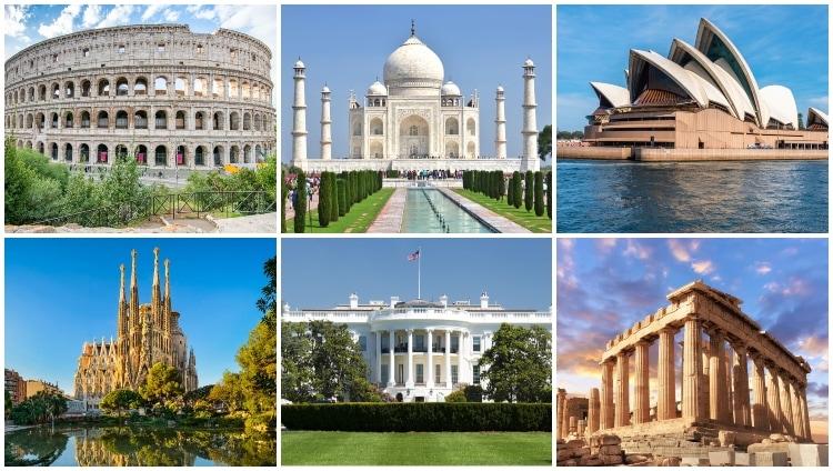 Världens mest kända byggnader