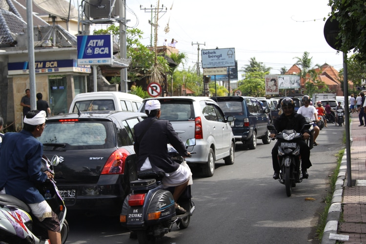 Bali traffic jam
