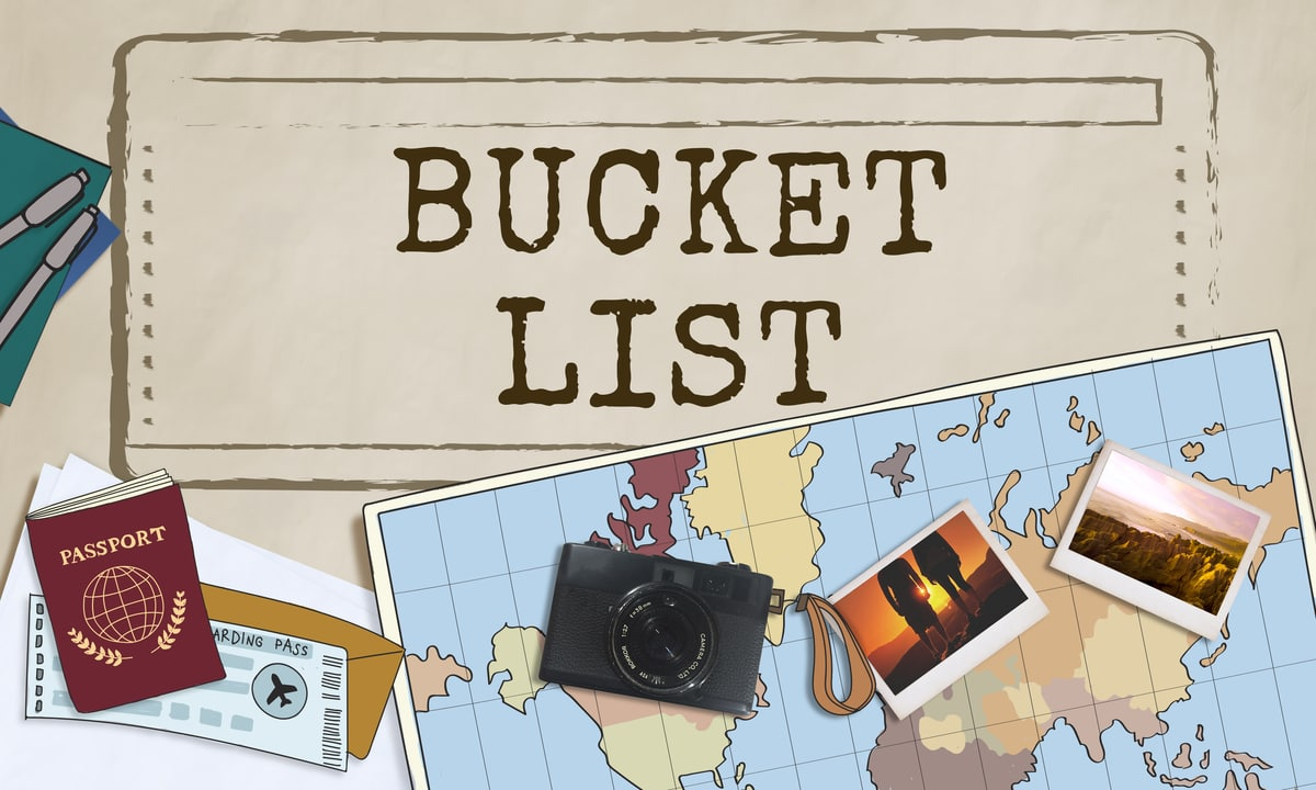 Bucket List Ideas - Places to see and things to do before you die