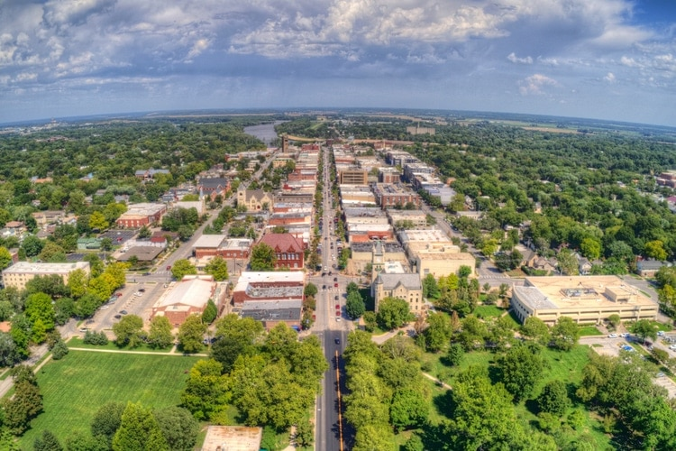 Lawrence city in Kansas