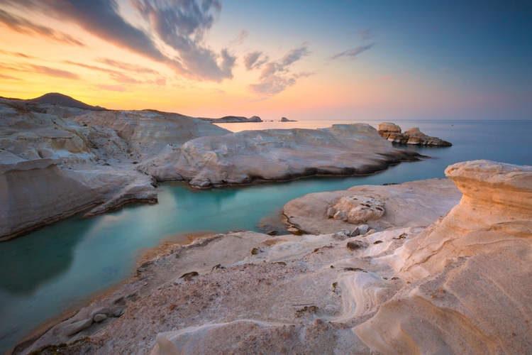 Sarakiniko beach on Milos island